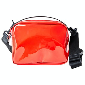 Rains Transparent Box Messenger-Tasche - Glossy Red