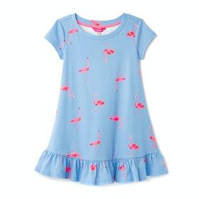 Joules Allie Mädchen Kleid - Blue Flamingoes