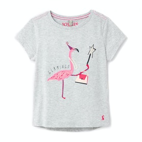 T-Shirt à Manche Courte Joules Astra - Grey Flamingo
