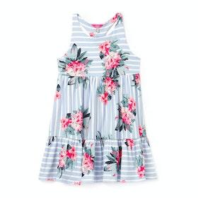 Joules Juno Kjole - Blue Stripe Floral