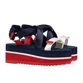 Tommy Jeans Pop Color Flatform Damen Sandalen - Twilight Navy