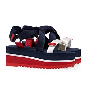Sandali Donna Tommy Jeans Pop Color Flatform - Twilight Navy