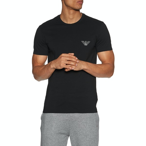 Emporio Armani Stretch Cotton Crew Neck Short Sleeve T-Shirt