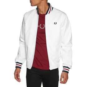 Fred Perry Re Issues Made In England Bomber Jacket - White