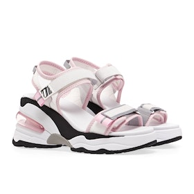 ASH Deep Trainer Women's Sandals - White White Baby Pink