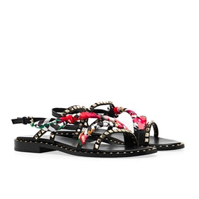 ASH Pasha Women's Sandals - Black Red Multi