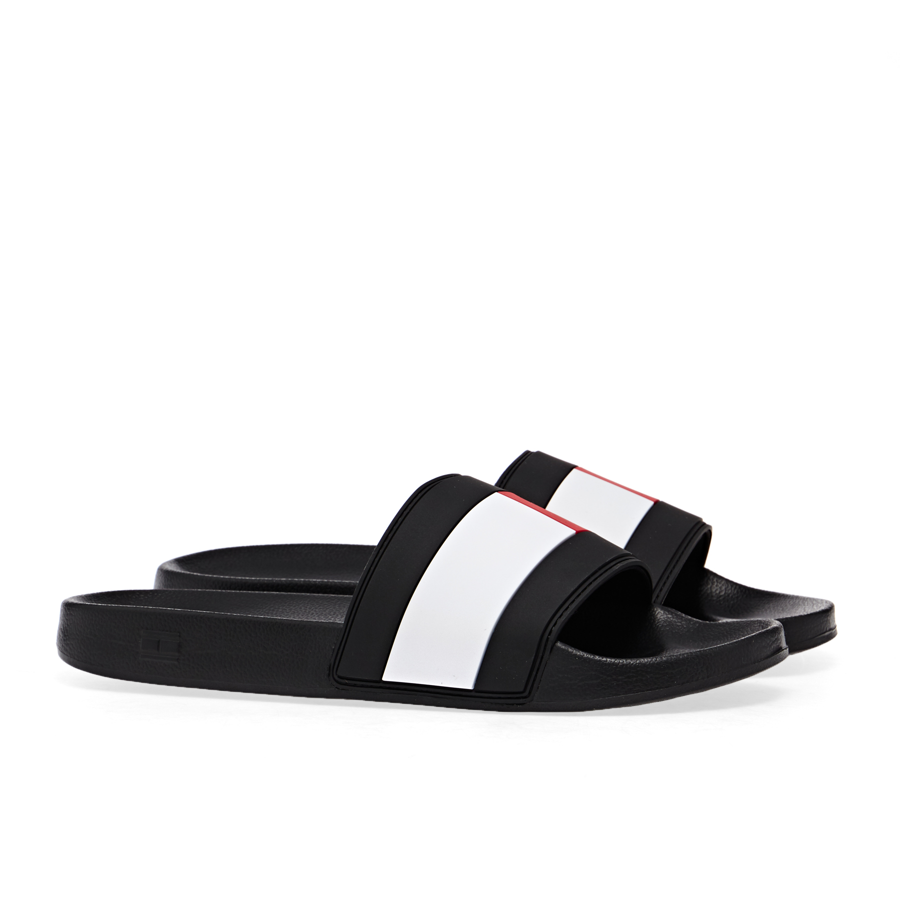 Tommy Hilfiger Men/'s Essential Flag Pool Sliders White