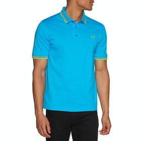 Fred Perry Re Issues Made In Japan Pique Polo Shirt - Aqua Marine