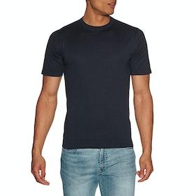 John Smedley Lorca Kurzarm-T-Shirt - Navy
