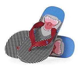 Sandalias Girls Joules Jnr Flip Flop - Blue Sharks