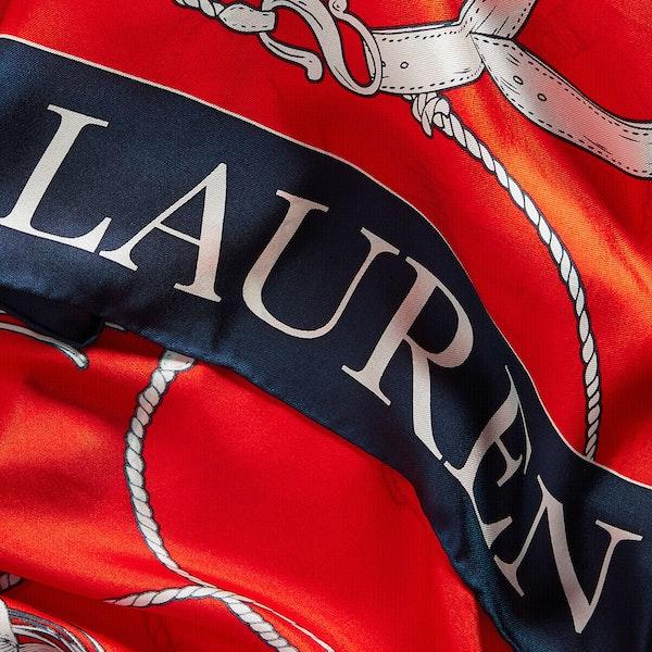 Lenço Senhora Lauren Ralph Lauren Angelina Square Silk