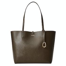 Borsa Shopper Donna Lauren Ralph Lauren Reversible Tote Medium - Grn Chain