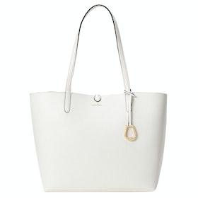 Lauren Ralph Lauren Reversible Tote Medium Damen Einkaufstasche - Vanilla Chain