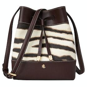 Дамская сумка Lauren Ralph Lauren Debby II Drawstring Mini - Zebra