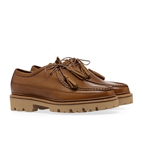 Grenson Bennett Dress Shoes - Tan Country Grain