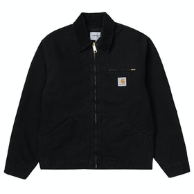 Carhartt Og Detroit Jacket - Black / Black Rinsed