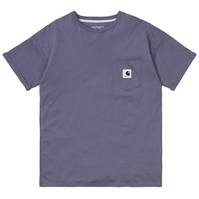 Carhartt Carrie Pocket Damen Kurzarm-T-Shirt - Decent Purple Ash Heather
