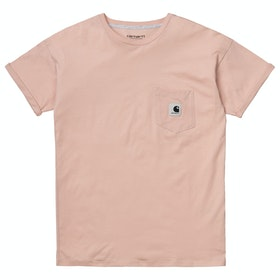 Carhartt Carrie Pocket 半袖 T シャツ - Powdery / Ash Heather