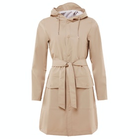 Rains Belt Waterproof Jacket - Beige