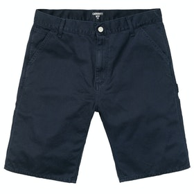 Carhartt Ruck Single Knee Spazier-Shorts - Dark Navy Stone Washed