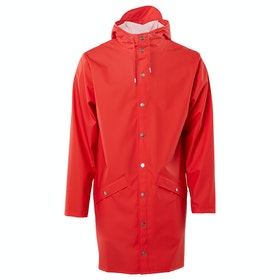 Rains Long Waterproof Jacket - Red