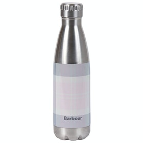 Barbour Tartan Water Bottle - Pink Grey Tartan