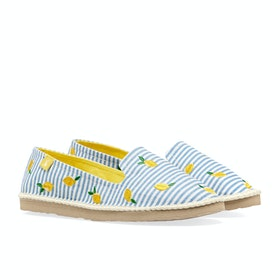 Espadryle Damski Joules Flipadrille - Blue Lemon Stripe