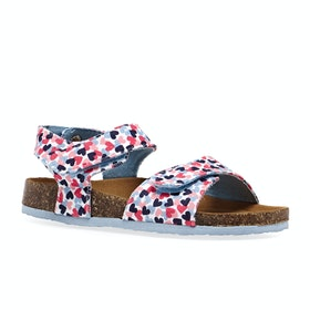 Joules Tippy Toes Girls Sandals - White Hearts