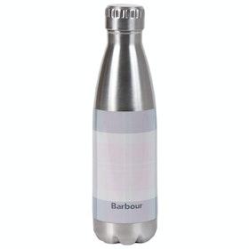 Barbour Tartan Water Bottle - Pink Grey Tartan
