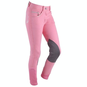 QHP Odilia Childrens Riding Breeches - Flamingo Pink