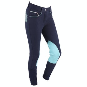 QHP Odilia Childrens Riding Breeches - Navy