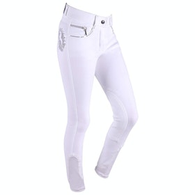QHP Odilia Childrens Riding Breeches - White