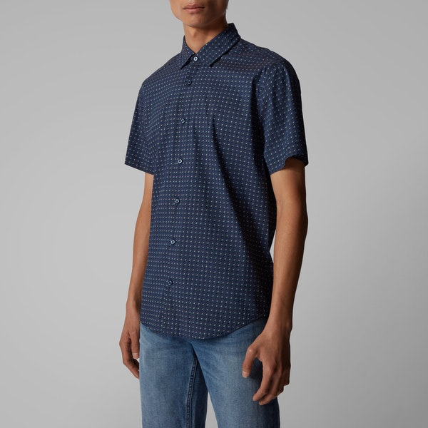 BOSS Rash Printed Short Sleeve Shirt