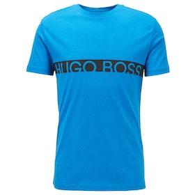 BOSS Round Neck Kurzarm-T-Shirt - Blue