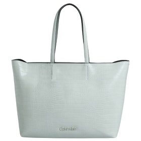 Calvin Klein Must Shopper Md Croc Shopper Bag - Petal Green