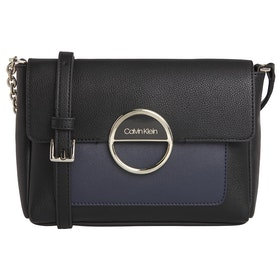 Calvin Klein Disc Shouldersm Women's Handbag - Mix Black