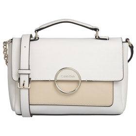 Calvin Klein Disc Top Handle Md Women's Handbag - White Mix