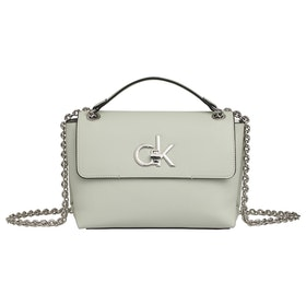 Calvin Klein Re-lock Convertible Crossbody Women's Handbag - Petal Green