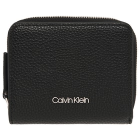 Calvin Klein Sided Ziparound Md Flap Women's Purse - Black