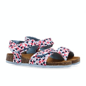Joules Tippy Toes Girl's Sandals - White Hearts