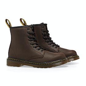 Dr Martens 1460 Serena Kid's Boots - Dark Brown Republic Wp
