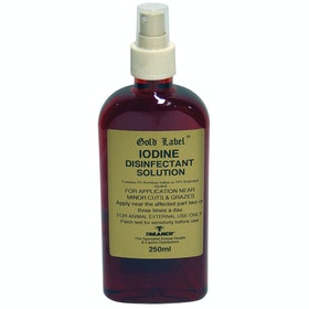 Gold Label Iodine Spray Horse First Aid - Clear