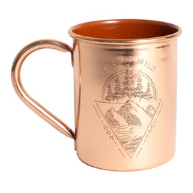 Caneca United by Blue Keep It Wild 14oz Copper Enamel Lined Mug - Brick Red