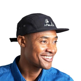 Casquette United by Blue Mens Equator 5-panel - Black