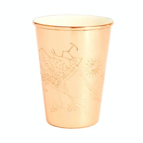 Caneca United by Blue Mountain Gaze Copper.enamel Lined 16oz - Cream