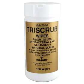 Premiers soins cheval Gold Label Triscrub Wipes - White