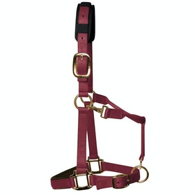 KM Elite Luxury Padded Head Collar - Burgundy