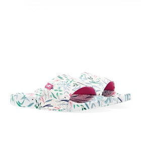 Joules Jnr Poolside Girl's Sandals - White Flamingo Ditsy