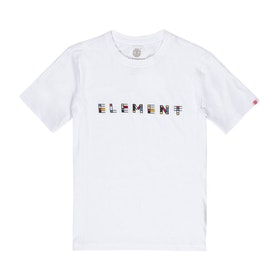 Element Metz Boys Short Sleeve T-Shirt - Optic White