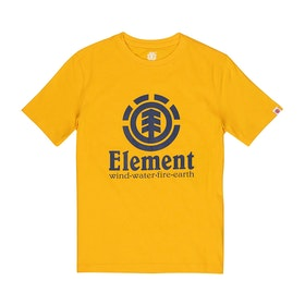 Element Vertical Boys Short Sleeve T-Shirt - Gold
